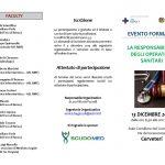 Brochure convegno La responsabilità degli opatori sanitari, pag.1