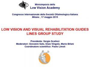 Congresso Società Oftalmologica Italiana. Milano, 17 maggio 2015.