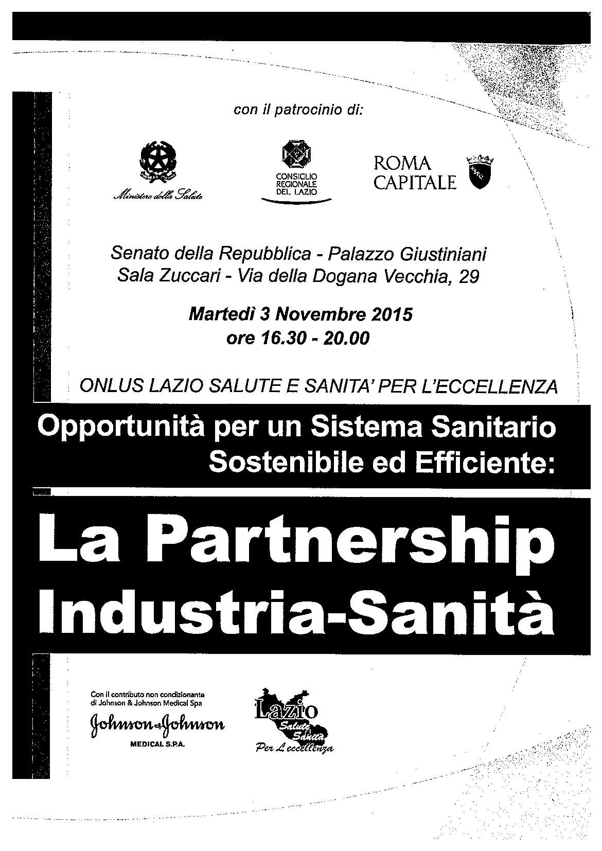 Locandina - La partnership industria-sanità