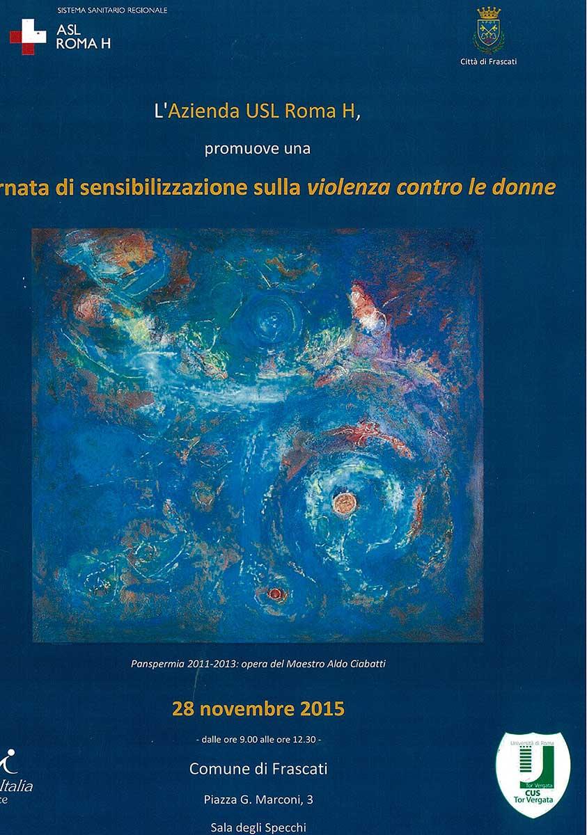 Locandina sensibilizzazione contro violenza donne, Frascati