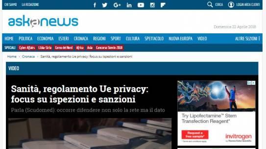 Sanità, regolamento Ue privacy: focus su ispezioni e sanzioni