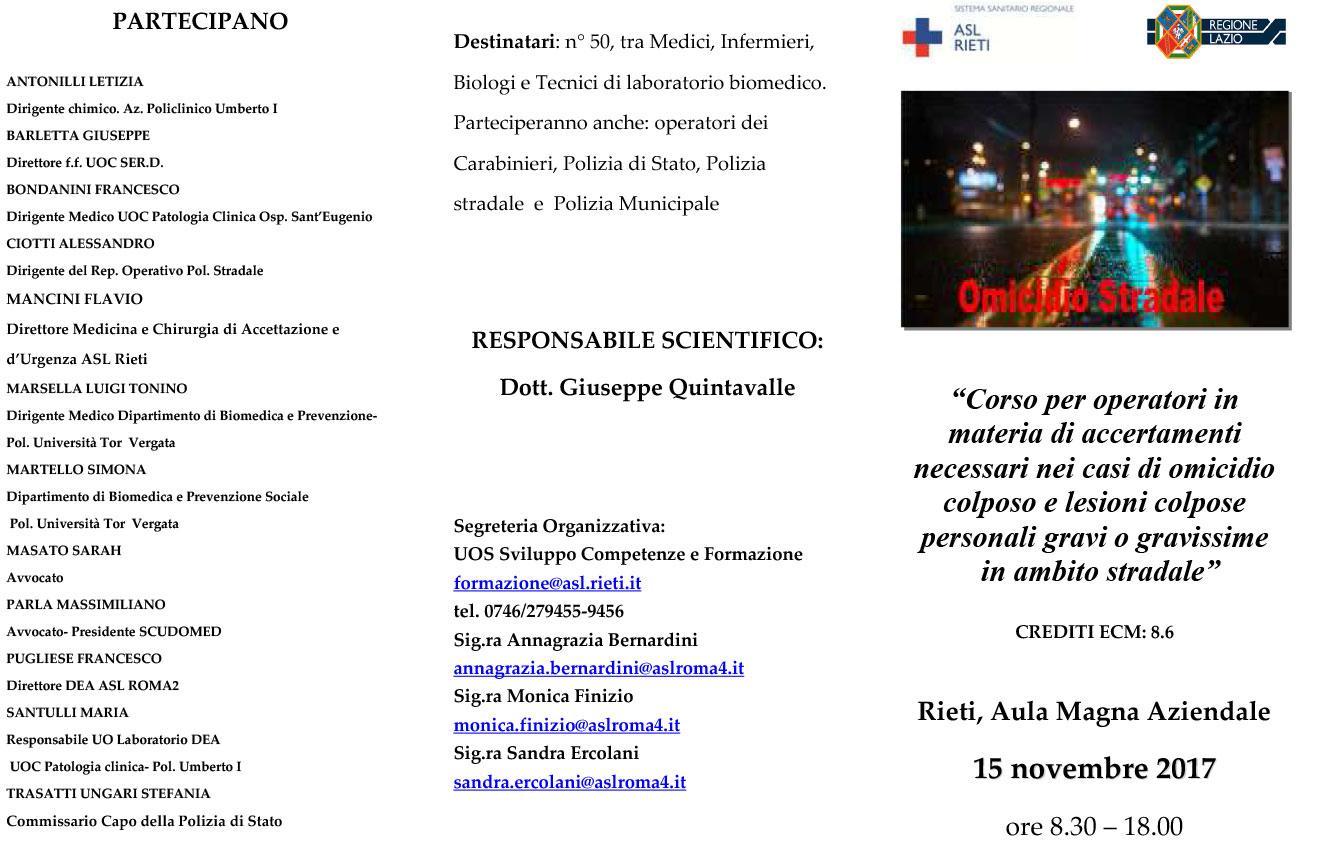 Corso, Rieti, 15/11/2017