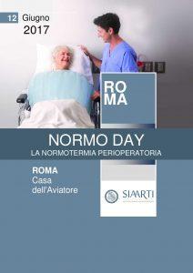 Locandina NORMO DAY, LA NORMOTERMIA PERIOPERATORIA Roma, 12 Giugno 2017