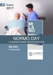 locandina NORMO DAY, LA NORMOTERMIA PERIOPERATORIA, Milano 2017