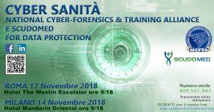 Locandina Cyber Sanità, 2018, Roma Milano