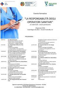 Programma Convegno Rieti, gennaio 2016