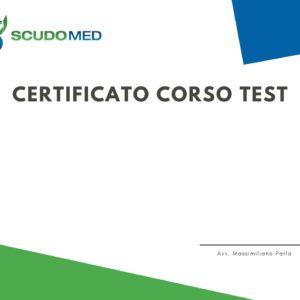 Certifcato Attestato Test